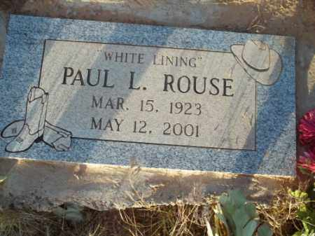 ROUSE, PAUL L. - San Juan County, New Mexico | PAUL L. ROUSE - New Mexico Gravestone Photos