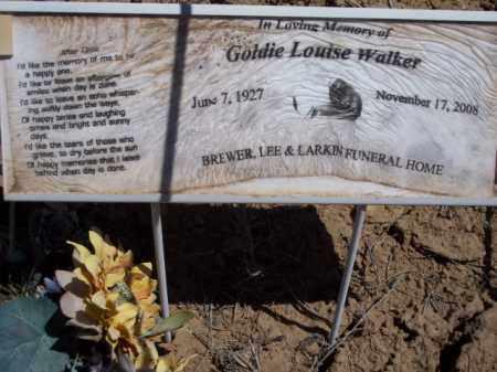 WALKER, GOLDIE LOUISE - San Juan County, New Mexico   GOLDIE LOUISE WALKER - New Mexico Gravestone Photos