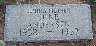 ANDERSEN, JUNE - San Miguel County, New Mexico | JUNE ANDERSEN - New Mexico Gravestone Photos