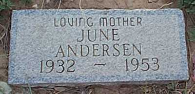 ANDERSEN, JUNE - San Miguel County, New Mexico | JUNE ANDERSEN - New Mexico Gravestone Photos
