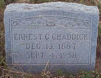 CHADDICK, ERNEST C. - San Miguel County, New Mexico | ERNEST C. CHADDICK - New Mexico Gravestone Photos