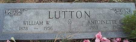 LUTTON, WILLIAM W. - San Miguel County, New Mexico | WILLIAM W. LUTTON - New Mexico Gravestone Photos