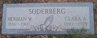 SODERBERG, CLARA A. - San Miguel County, New Mexico   CLARA A. SODERBERG - New Mexico Gravestone Photos