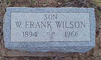 WILSON, W. FRANK - San Miguel County, New Mexico | W. FRANK WILSON - New Mexico Gravestone Photos