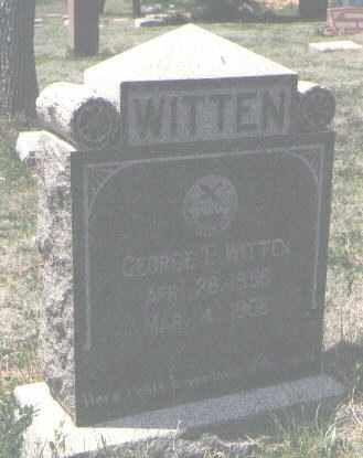 WITTEN, GEORGE T. - San Miguel County, New Mexico | GEORGE T. WITTEN - New Mexico Gravestone Photos