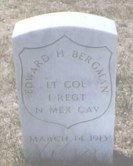 BERGMAN, EDWARD H. - Santa Fe County, New Mexico | EDWARD H. BERGMAN - New Mexico Gravestone Photos