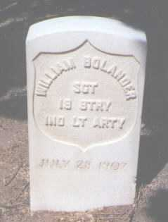 BOLANDER, WILLIAM - Santa Fe County, New Mexico | WILLIAM BOLANDER - New Mexico Gravestone Photos
