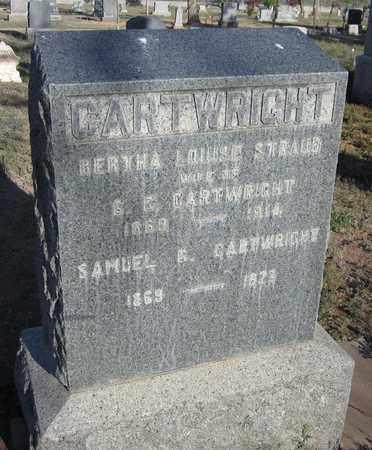 CARTWRIGHT, BERTHA LOUISE - Santa Fe County, New Mexico   BERTHA LOUISE CARTWRIGHT - New Mexico Gravestone Photos