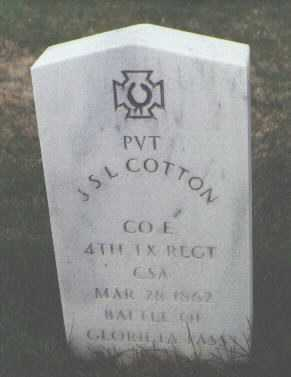 COTTON, J. S. L. - Santa Fe County, New Mexico | J. S. L. COTTON - New Mexico Gravestone Photos