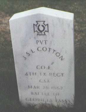 COTTON, J. S. L. - Santa Fe County, New Mexico   J. S. L. COTTON - New Mexico Gravestone Photos
