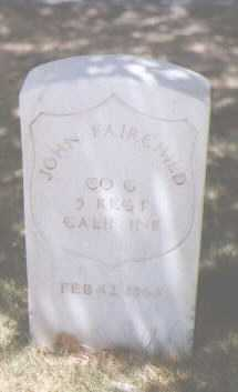 FAIRCHILD, JOHN - Santa Fe County, New Mexico | JOHN FAIRCHILD - New Mexico Gravestone Photos