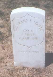 FOOTE, CHARLES F. - Santa Fe County, New Mexico | CHARLES F. FOOTE - New Mexico Gravestone Photos