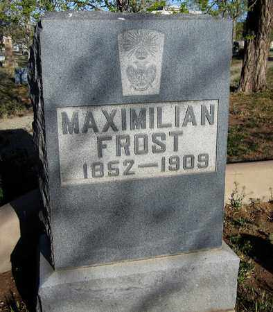 FROST, MAXIMILIAN - Santa Fe County, New Mexico   MAXIMILIAN FROST - New Mexico Gravestone Photos