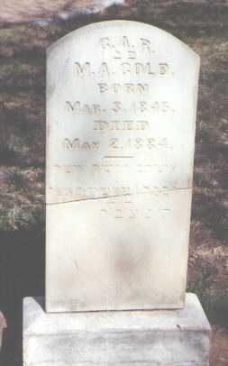 GOLD, M. A. - Santa Fe County, New Mexico   M. A. GOLD - New Mexico Gravestone Photos