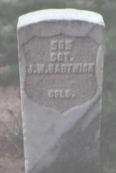 HARTWICK, J. W. - Santa Fe County, New Mexico   J. W. HARTWICK - New Mexico Gravestone Photos