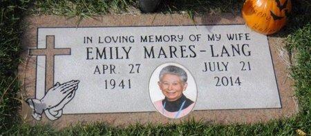 MARES LANG, EMILY VIRGINIA - Santa Fe County, New Mexico   EMILY VIRGINIA MARES LANG - New Mexico Gravestone Photos