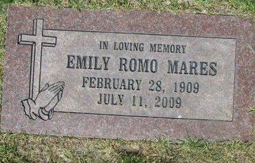 MARES, EMILY - Santa Fe County, New Mexico   EMILY MARES - New Mexico Gravestone Photos