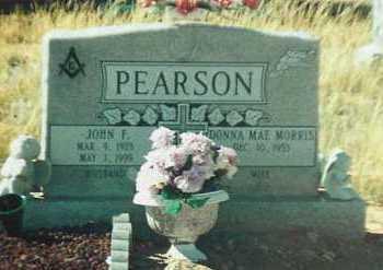 PEARSON, JOHN FRANKLIN - Santa Fe County, New Mexico | JOHN FRANKLIN PEARSON - New Mexico Gravestone Photos