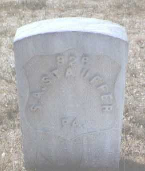 STAUFFER, S. A. - Santa Fe County, New Mexico   S. A. STAUFFER - New Mexico Gravestone Photos