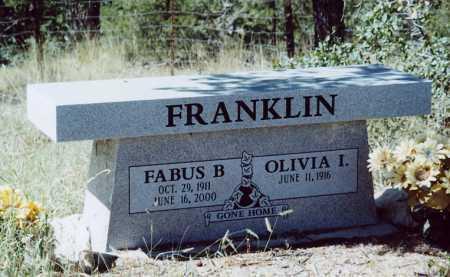 FRANKLIN, OLIVIA I - Sierra County, New Mexico | OLIVIA I FRANKLIN - New Mexico Gravestone Photos