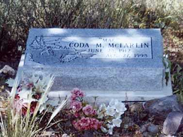 MCLARLIN, CODA M - Sierra County, New Mexico | CODA M MCLARLIN - New Mexico Gravestone Photos