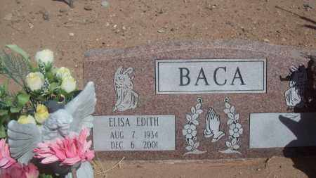 BACA, ELISA EDITH - Socorro County, New Mexico | ELISA EDITH BACA - New Mexico Gravestone Photos