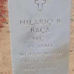 BACA, HILARIO B. - Socorro County, New Mexico | HILARIO B. BACA - New Mexico Gravestone Photos