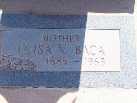 BACA, LUISA V. - Socorro County, New Mexico | LUISA V. BACA - New Mexico Gravestone Photos