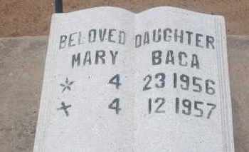 BACA, MARY - Socorro County, New Mexico | MARY BACA - New Mexico Gravestone Photos
