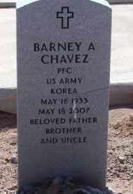 CHAVEZ, BARNEY A. - Socorro County, New Mexico   BARNEY A. CHAVEZ - New Mexico Gravestone Photos