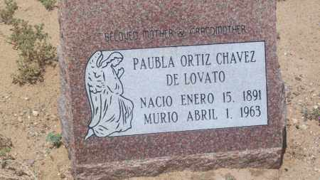 CHAVEZ, PAUBLA ORTIZ DE LOVATO - Socorro County, New Mexico | PAUBLA ORTIZ DE LOVATO CHAVEZ - New Mexico Gravestone Photos