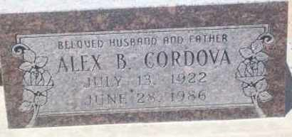 CORDOVA, ALEX B. - Socorro County, New Mexico | ALEX B. CORDOVA - New Mexico Gravestone Photos