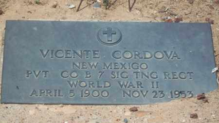 CORDOVA, VICENTE - Socorro County, New Mexico | VICENTE CORDOVA - New Mexico Gravestone Photos