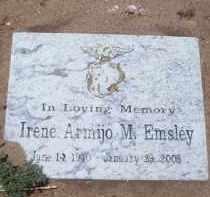 ARMIJO EMSLEY, IRENE M. - Socorro County, New Mexico   IRENE M. ARMIJO EMSLEY - New Mexico Gravestone Photos