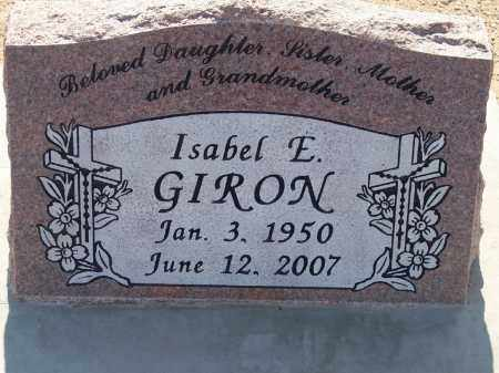 GIRON, ISABEL E. - Socorro County, New Mexico | ISABEL E. GIRON - New Mexico Gravestone Photos