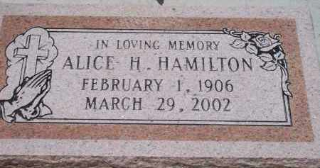 HAMILTON, ALICE H. - Socorro County, New Mexico | ALICE H. HAMILTON - New Mexico Gravestone Photos