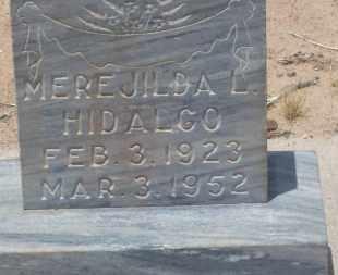 HIDALGO, MEREJILDA L. - Socorro County, New Mexico | MEREJILDA L. HIDALGO - New Mexico Gravestone Photos