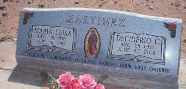 MARTINEZ, DECIDERIO C. - Socorro County, New Mexico | DECIDERIO C. MARTINEZ - New Mexico Gravestone Photos