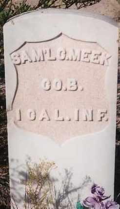 MEEK, SAMUEL C. - Socorro County, New Mexico | SAMUEL C. MEEK - New Mexico Gravestone Photos