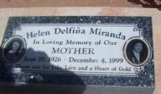 MIRANDA, HELEN DELFINA - Socorro County, New Mexico   HELEN DELFINA MIRANDA - New Mexico Gravestone Photos