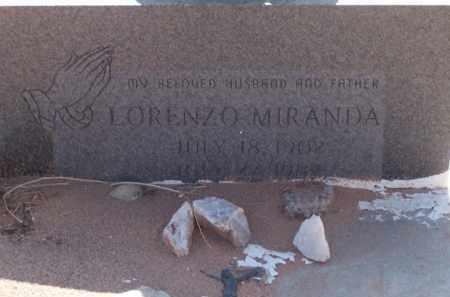 MIRANDA, LORENZO - Socorro County, New Mexico | LORENZO MIRANDA - New Mexico Gravestone Photos