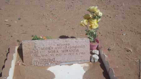 MIRANDA, NORA - Socorro County, New Mexico | NORA MIRANDA - New Mexico Gravestone Photos