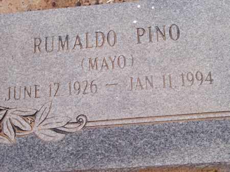 PINO, RUMALDO (MAYO) - Socorro County, New Mexico | RUMALDO (MAYO) PINO - New Mexico Gravestone Photos