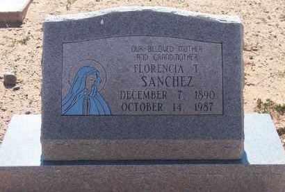 SANCHEZ, FLORENCIA T. - Socorro County, New Mexico | FLORENCIA T. SANCHEZ - New Mexico Gravestone Photos