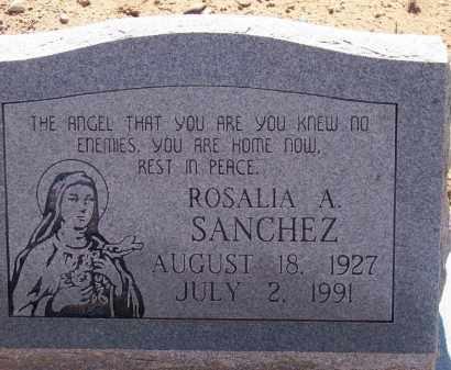 SANCHEZ, ROSALIA A. - Socorro County, New Mexico   ROSALIA A. SANCHEZ - New Mexico Gravestone Photos