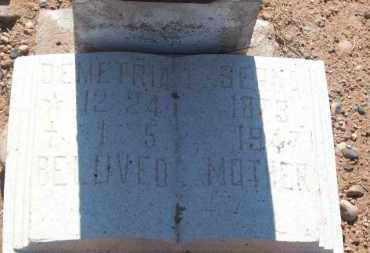 SERNA, DEMETRIA - Socorro County, New Mexico | DEMETRIA SERNA - New Mexico Gravestone Photos