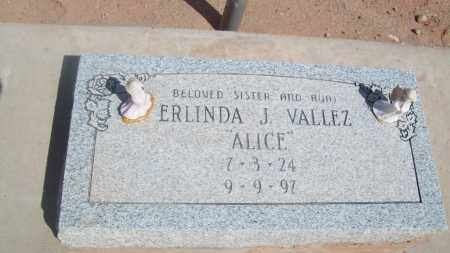 VALLEZ, ERLINDA J. - Socorro County, New Mexico | ERLINDA J. VALLEZ - New Mexico Gravestone Photos