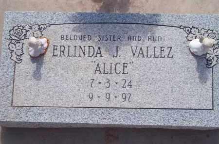 "VALLEZ, ERLINDA J. ""ALICE"" - Socorro County, New Mexico | ERLINDA J. ""ALICE"" VALLEZ - New Mexico Gravestone Photos"