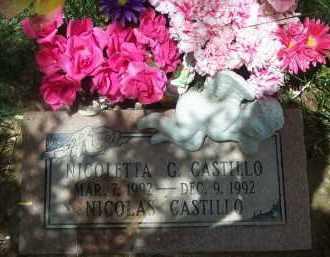 CASTILLO, NICOLETTA - Valencia County, New Mexico   NICOLETTA CASTILLO - New Mexico Gravestone Photos
